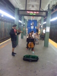 These two are the only buskers I've ever seen in Bay Ridge subway stations.