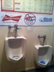 Urinals at Stevie Ray's