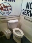 Toilet at Stevie Ray's