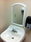 Sink, Mirror, Soap Dispenser