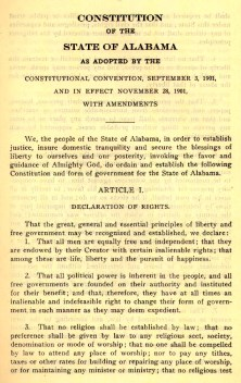 Alabama Constitution of 1901